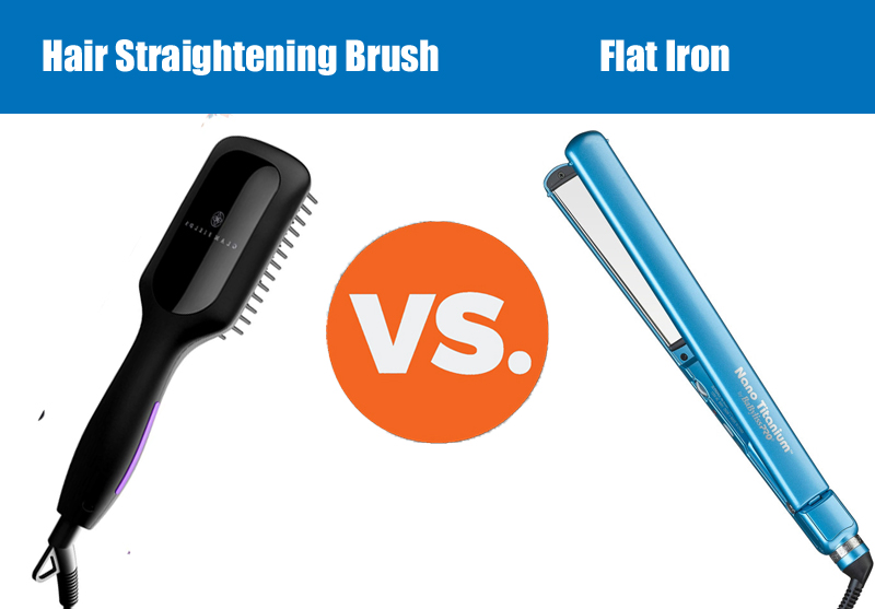 flat iron vs Brush