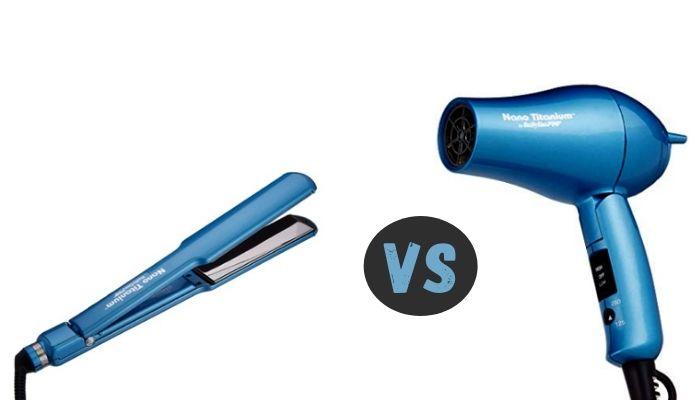 Blow Dry vs Hair Straightener
