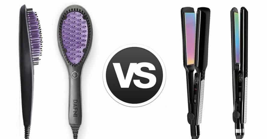 Hair Straightener vs Brush