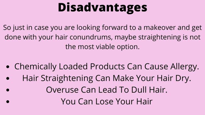 disadvantages of hair straightener