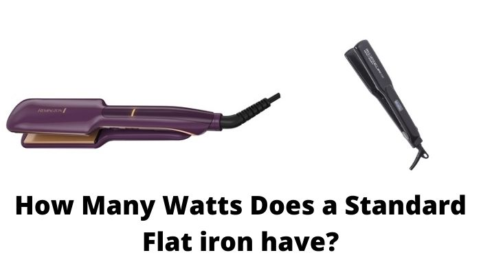 How many watts does a standard flat iron have